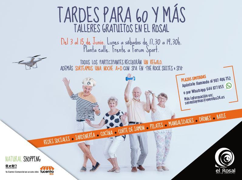 """Diversión, concursos y premios para nuestros mayores, en las """"Tardes para 60 y más"""" de El Rosal"""