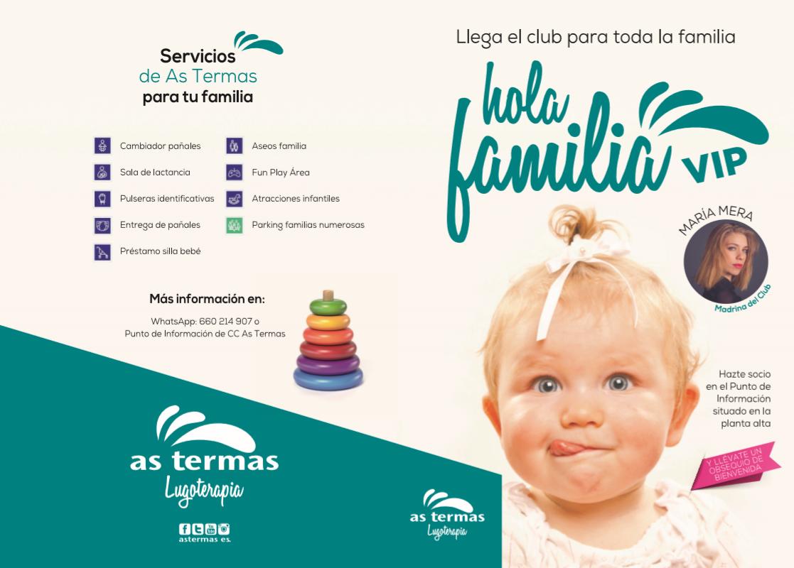 """As Termas presenta este sábado el proyecto """"¡Hola Familia!"""" con María Mera como madrina"""