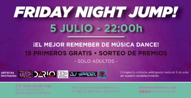 Urban Planet de Gran Vía de Vigo pone en marcha la primera Friday Night Jump de la ciudad