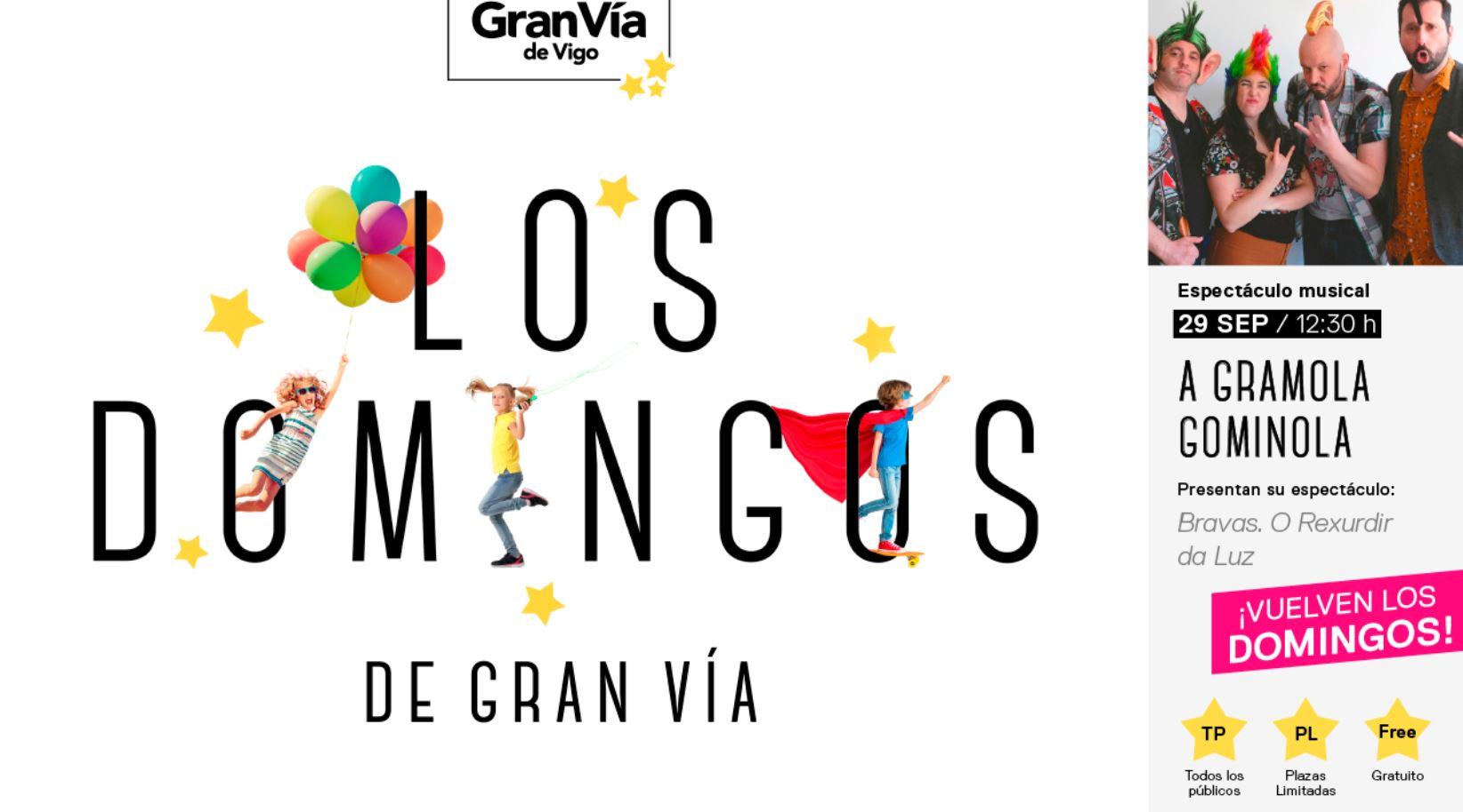 """A Gramola Gominola presenta su nuevo espectáculo en """"LOS DOMINGOS DE GRAN VÍA"""""""
