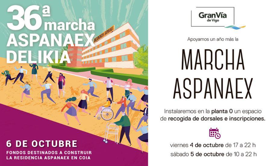 Gran Vía de Vigo se suma a la 36ª marcha Aspanaex