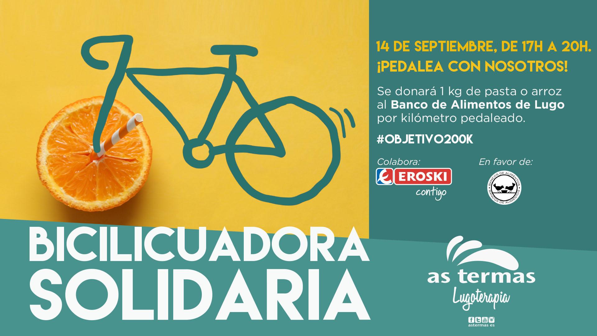 Por cada km pedaleado, se donará un kg de comida: así es la nueva acción solidaria de As Termas