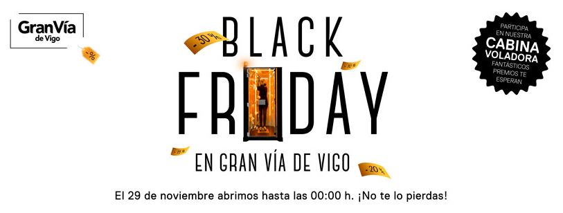 Gran Vía de Vigo celebrará el Black Friday con una cabina voladora llena de regalos