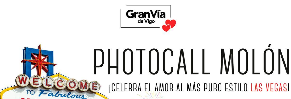 Gran Vía de Vigo celebra San Valentín con Discamino y un photocall para celebrar el amor al más puro estilo Las Vegas