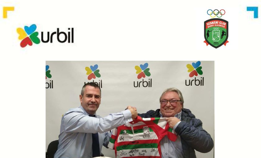Urbil con Hernani Club Rugby Elkartea dentro de su compromiso con el deporte